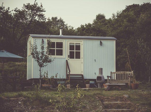 Ett litet blått hus